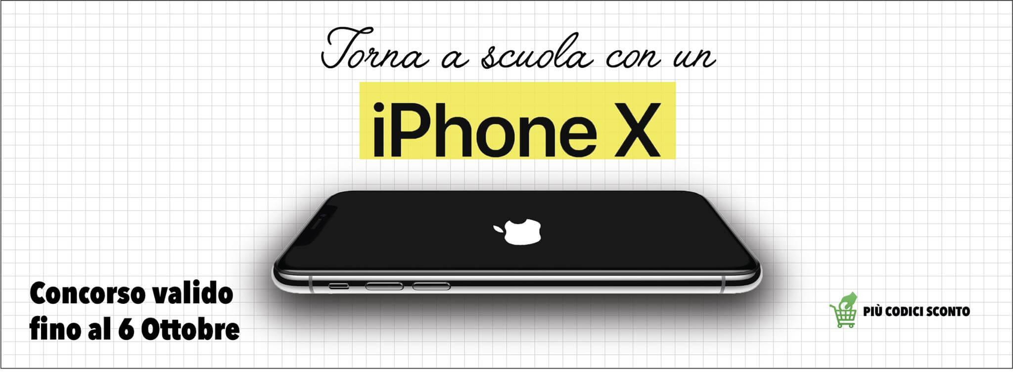 tona a scuola con l'iphone X