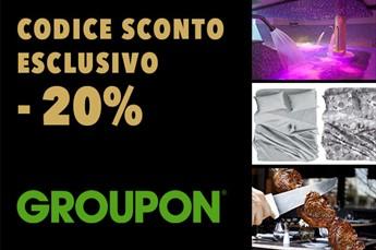 Codice sconto Groupon ESCLUSIVO del 20%